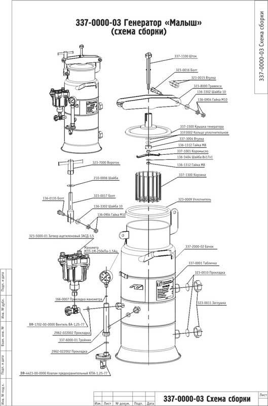 ацетиленовый генератор малыш инструкция